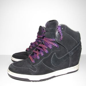 d00763aec68d Nike Shoes - Nike Dunk Sky Hi Black Sail Court Hidden Wedge
